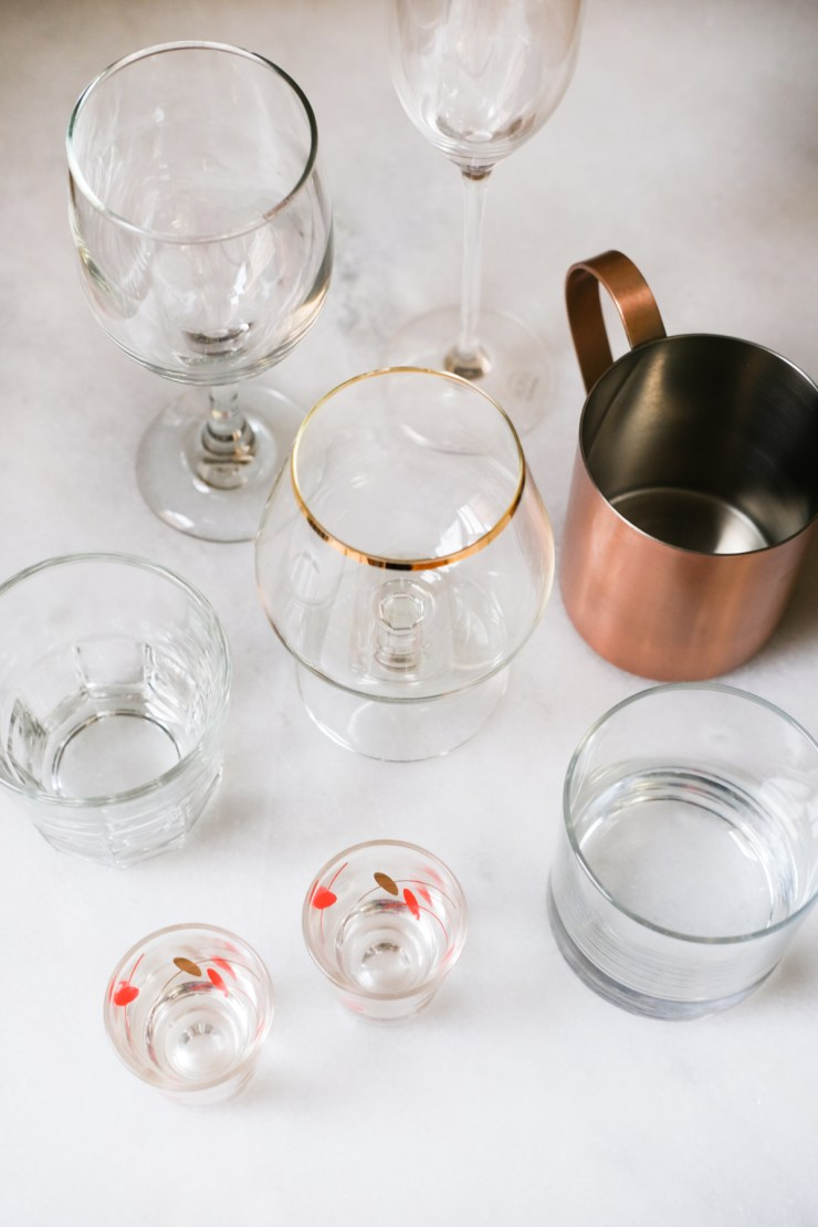 glasses for your at home bar