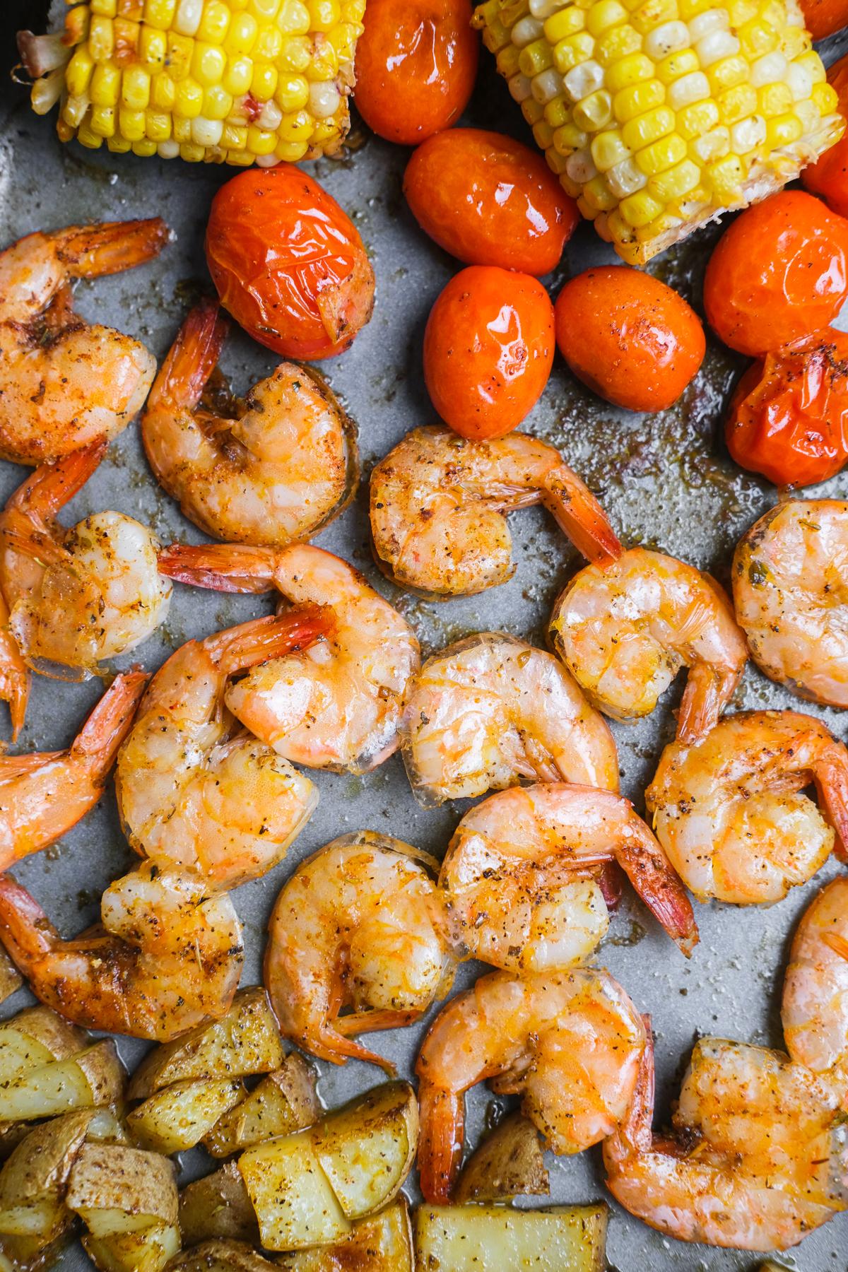 shrimp for cajun sheet pan dinner
