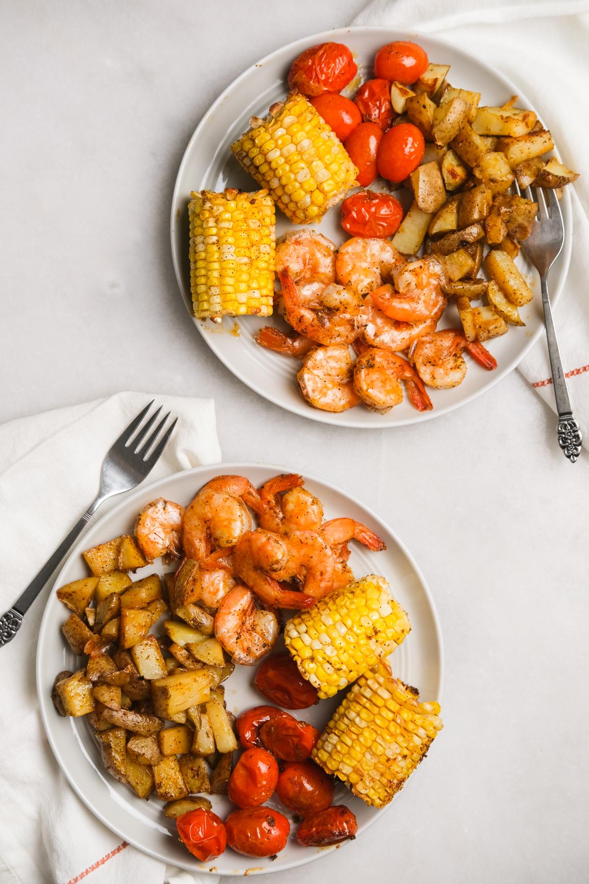 cajun inspired shrimp dinner