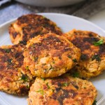 salmon patties on a plate