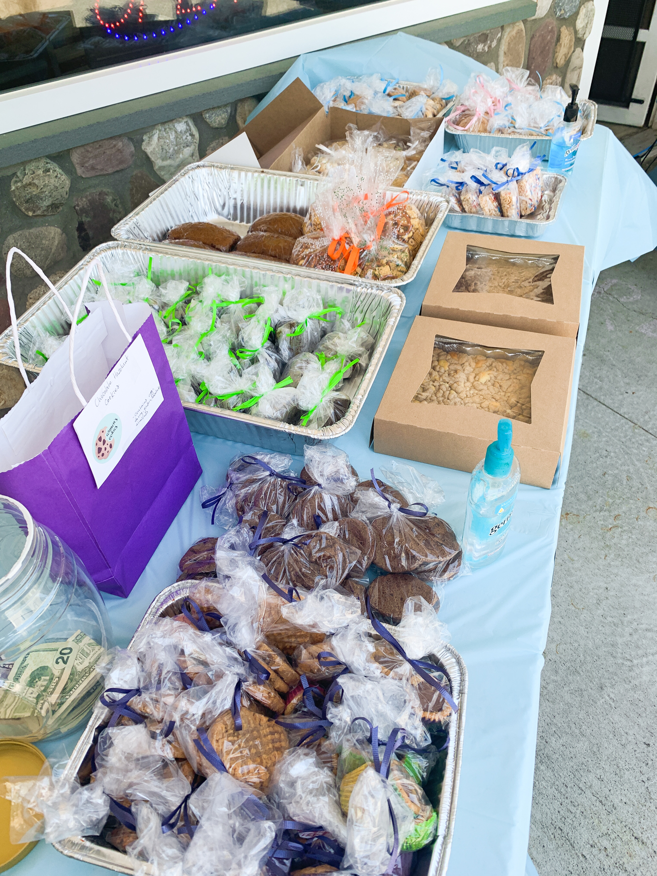 baked goods at the bakers against racism sale