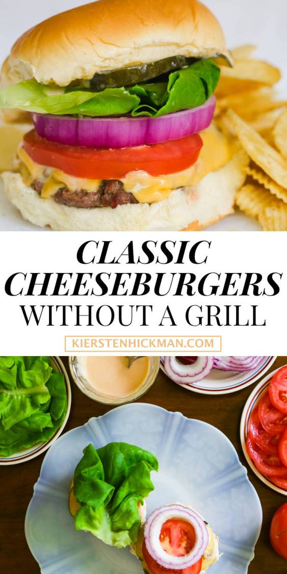 how to make classic cheeseburgers without a grill