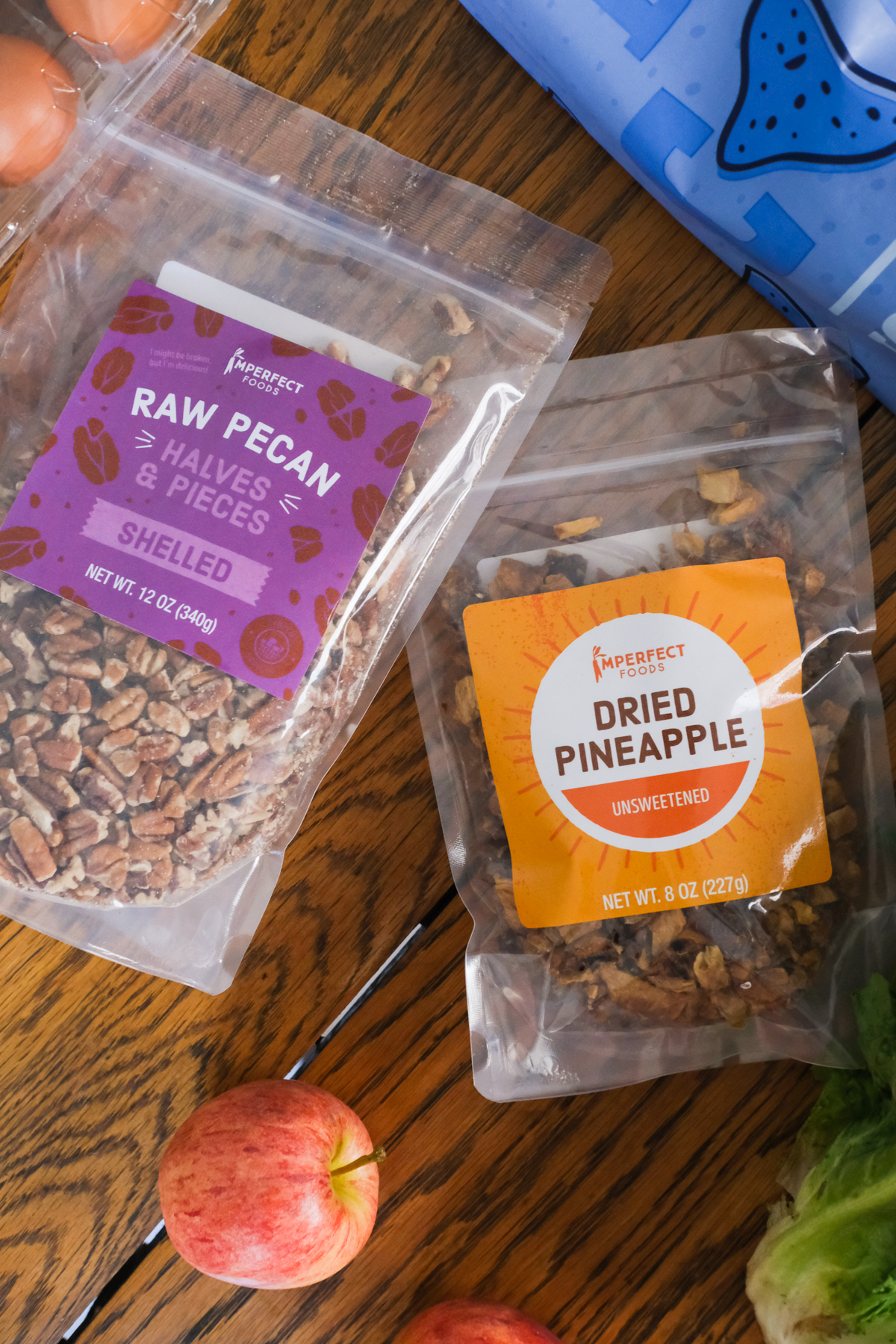 dried nut and fruit bags from my imperfect foods box