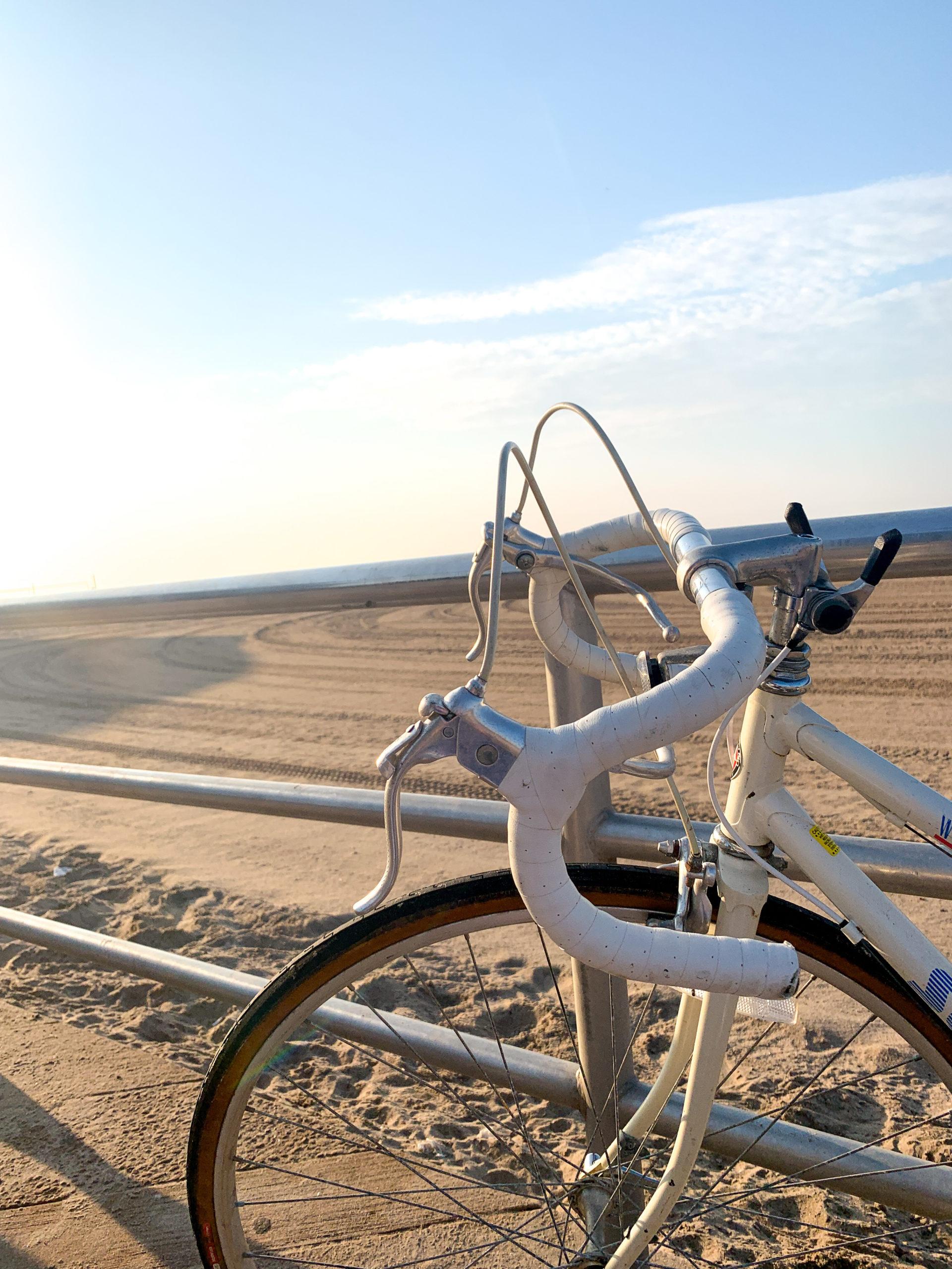 bike at coney island beach