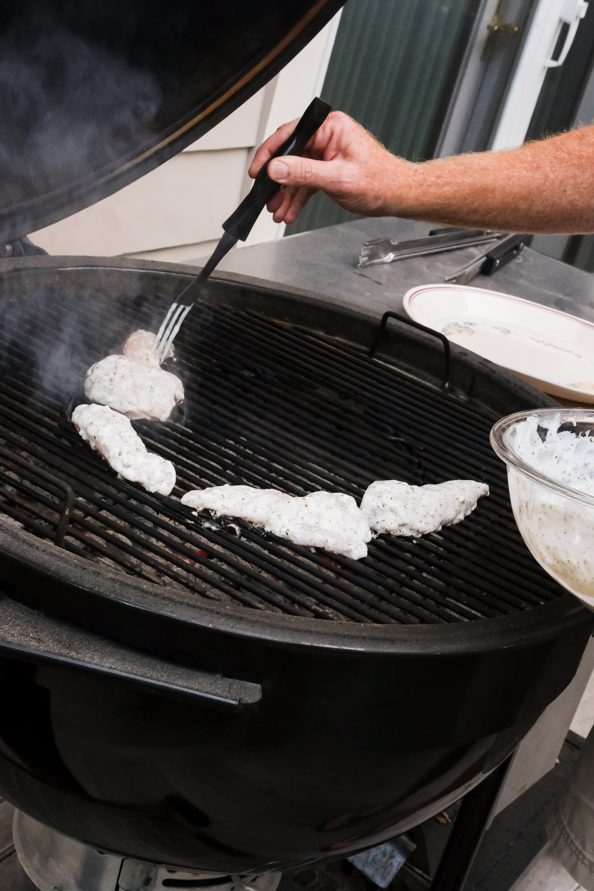 grilling greek chicken