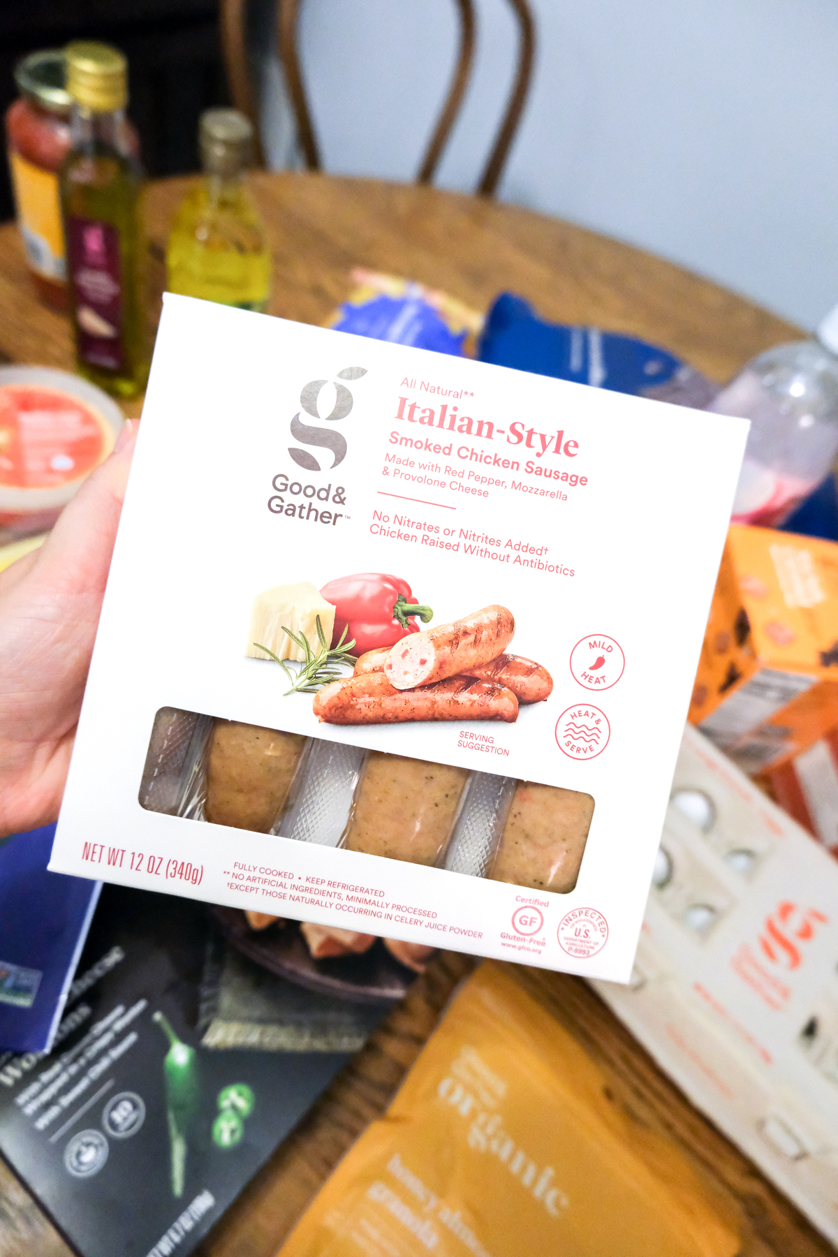 Italian-style chicken sausage Good & Gather at Target