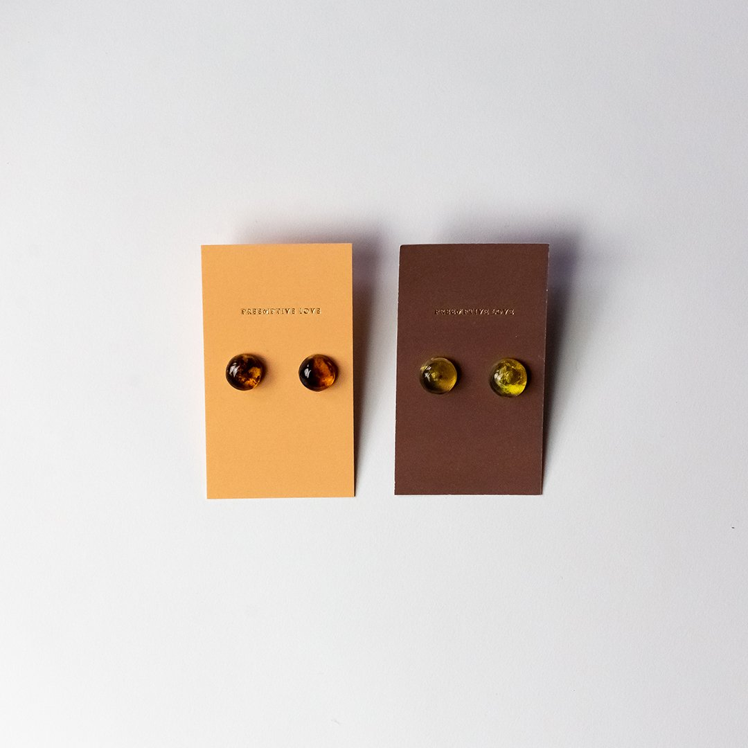 amber stud earrings preemptive love