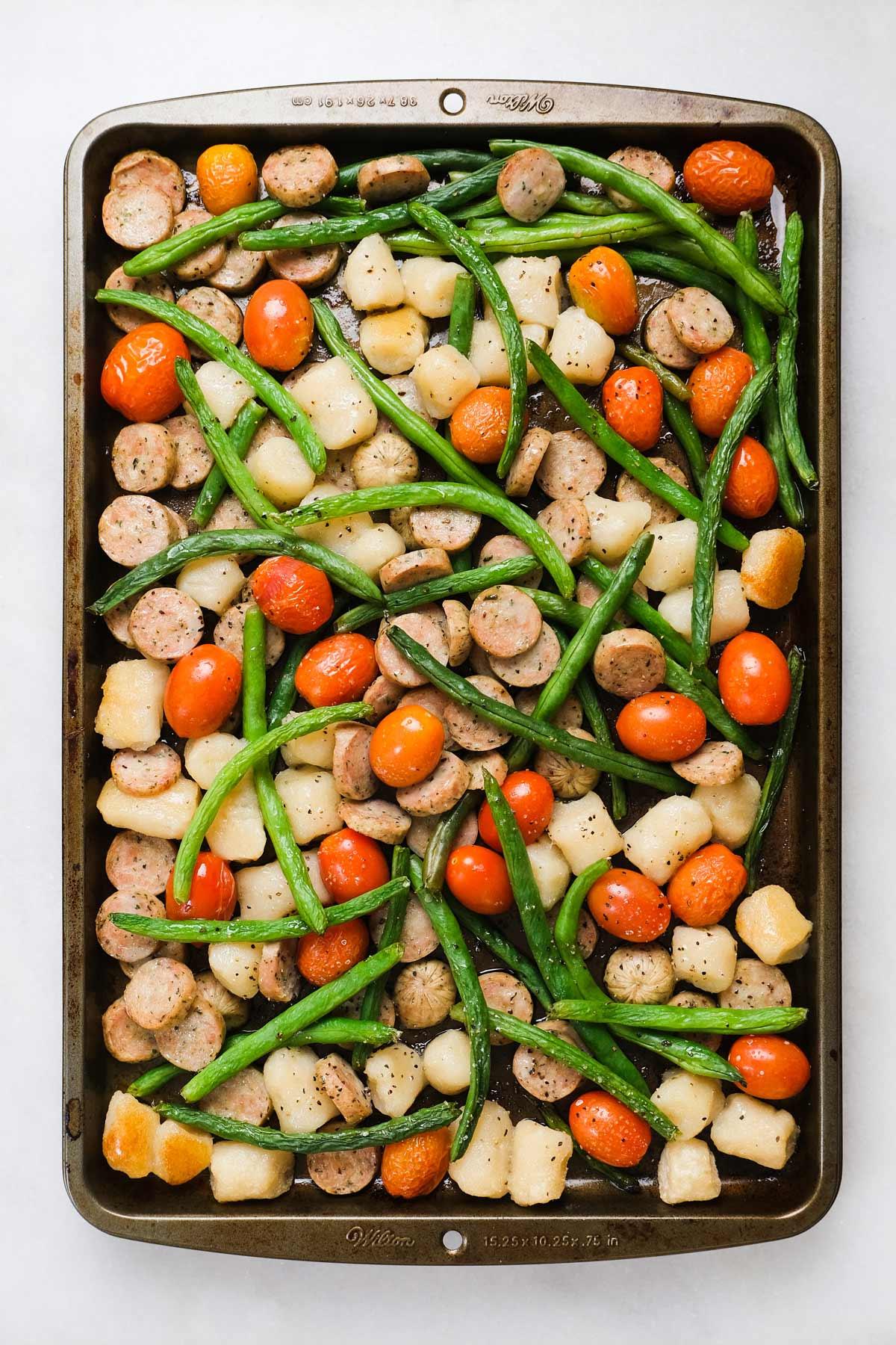 sheet pan gnocchi meal