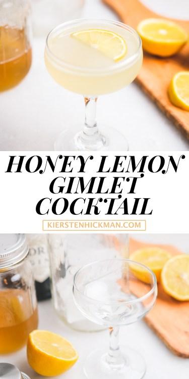 honey lemon gimlet cocktail