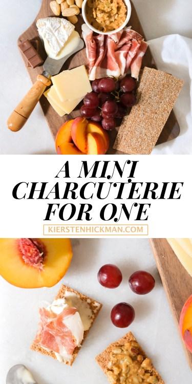 mini charcuterie board for one