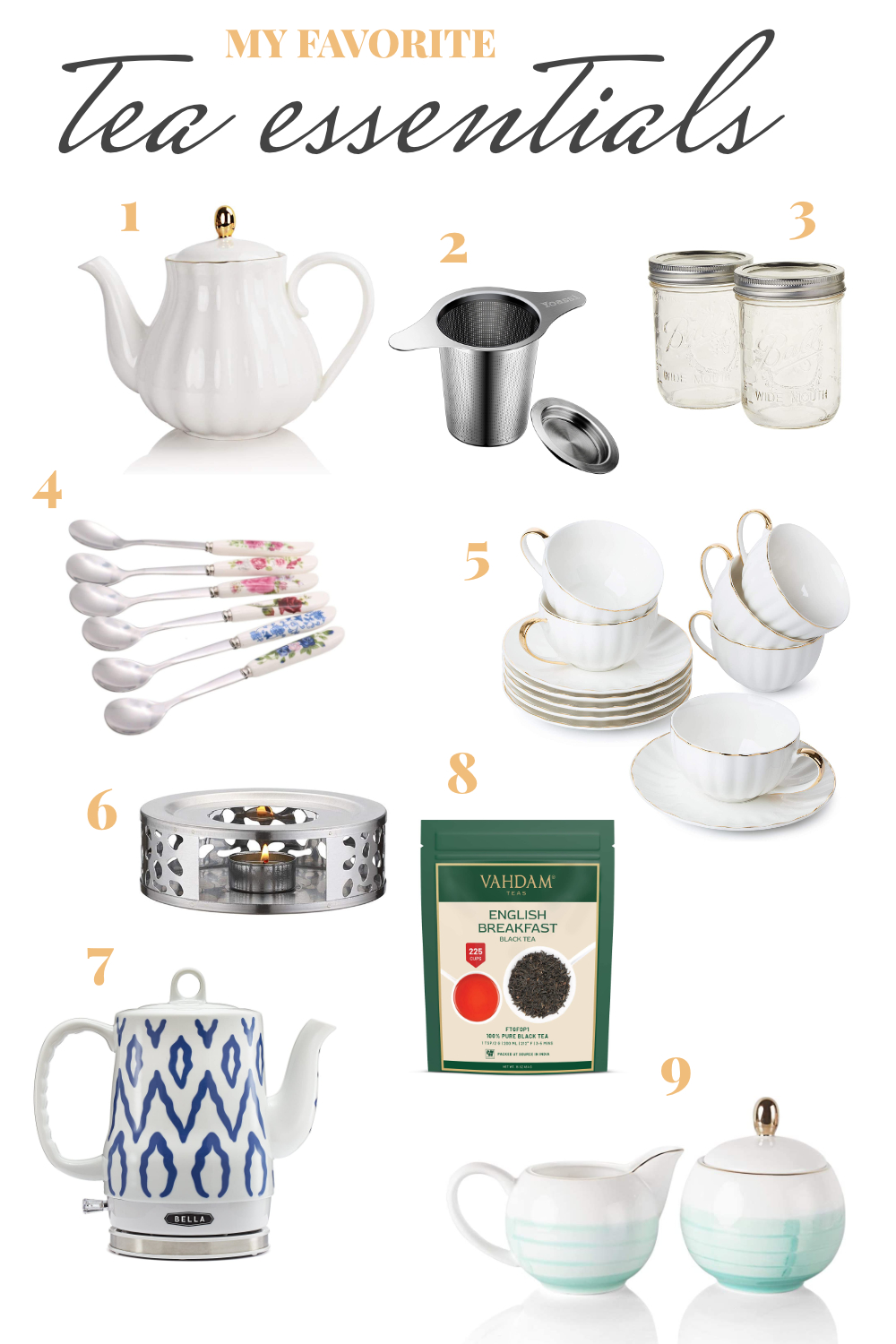 my favorite tea essentials from amazon