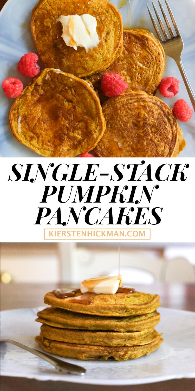 single stack pumpkin pancakes