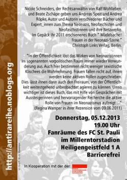Lesung und Diskussion: 05.12.13, 19 Uhr, Fanräume im Millerntor-Stadion