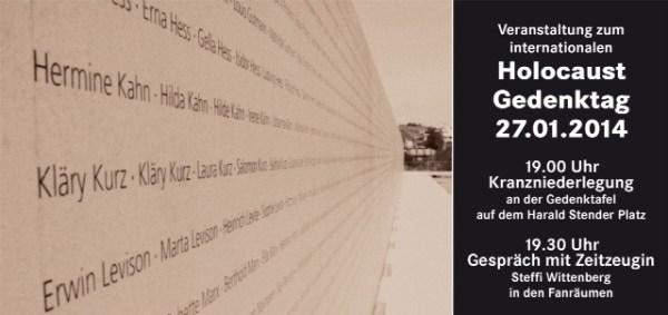 Einladung Holocaust - Gedenktag 2014