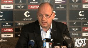 Videocapture fcstpauli.tv von der Pressekonferenz vom 02.07.2014, FC St. Pauli - Präsident Stefan Orth