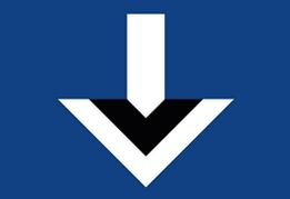 Ein abgewandeltes Logo vom Hamburger SV mit nach unten zeigendem Pfeil