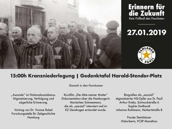 Programm Holocaust Gedenktag (alle Infos im Fließtext)