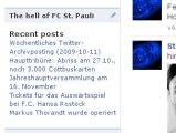 My blog www.kiezkicker.de/kiezkicker/ at Facebook as siebar-app: http://apps.facebook.com/kiezkicker/