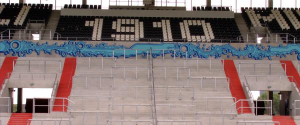 Gegengerade mit VivaConAgua - Grafitti
