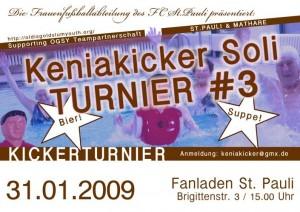 Kicker-Soliturnier am 31.01.09 um 15 Uhr im Fanladen St.Pauli