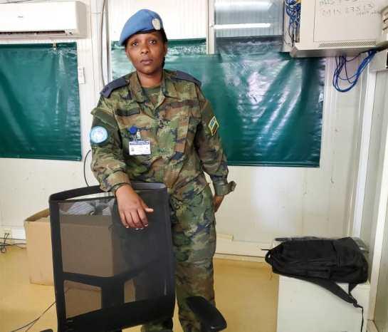Major Stella Uwineza, umwe mu bagore b