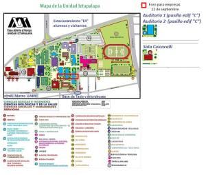 Mapa de la UAM Unidad Iztapalapa