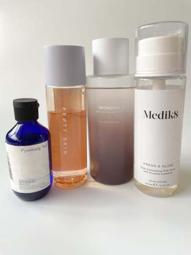 Toner selection as second step in a skincare routine