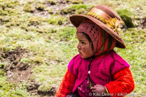 Girl with Chapped Cheeks, Andes, Peru