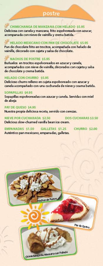 Kikos Authentic Mexican, Brighton Colorado, postre
