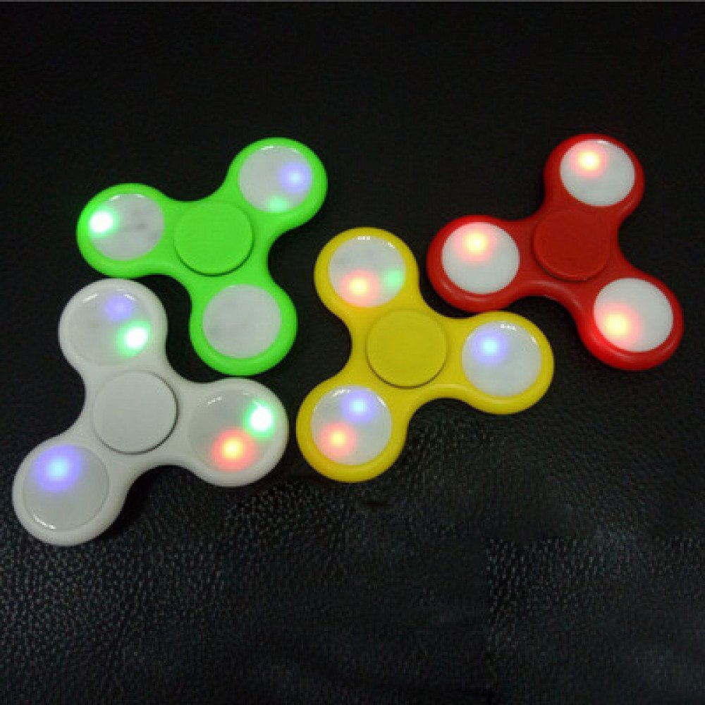 Wholesale LED Light Up With Switch Fidget Spinner Stress Reducer Toy For ADHD And Autism Mix