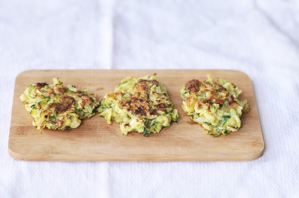 Fresh and Quick Zucchini Fritters, Kiku Corner 2