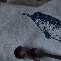 Narwhal Tea Towel, Hatchetmade, Kiku Corner