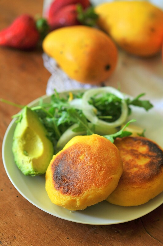 Arepas: Colombian Corn and Cheese Patties