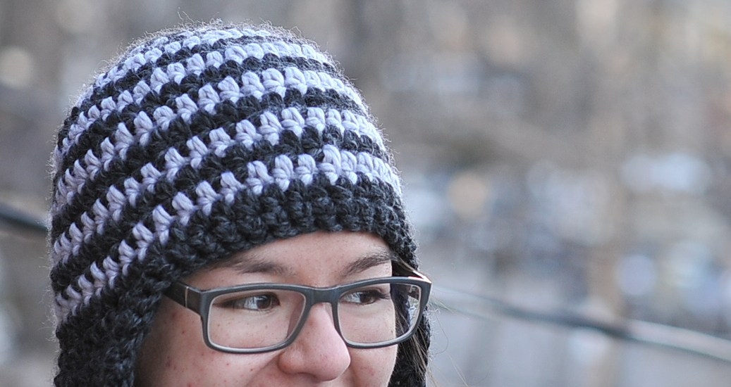 Diy Striped Crocheted Earflap Hat With Free Pattern Kiku Corner