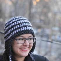 Striped Crocheted Earflap Hat