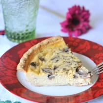 Swiss Cheese and Mushroom Quiche