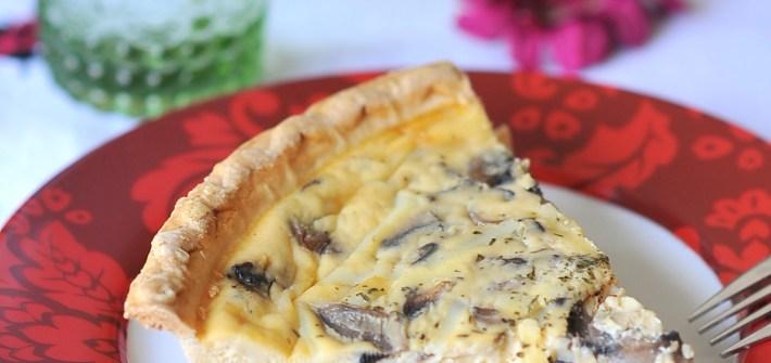 Swiss Cheese and Mushroom Quiche