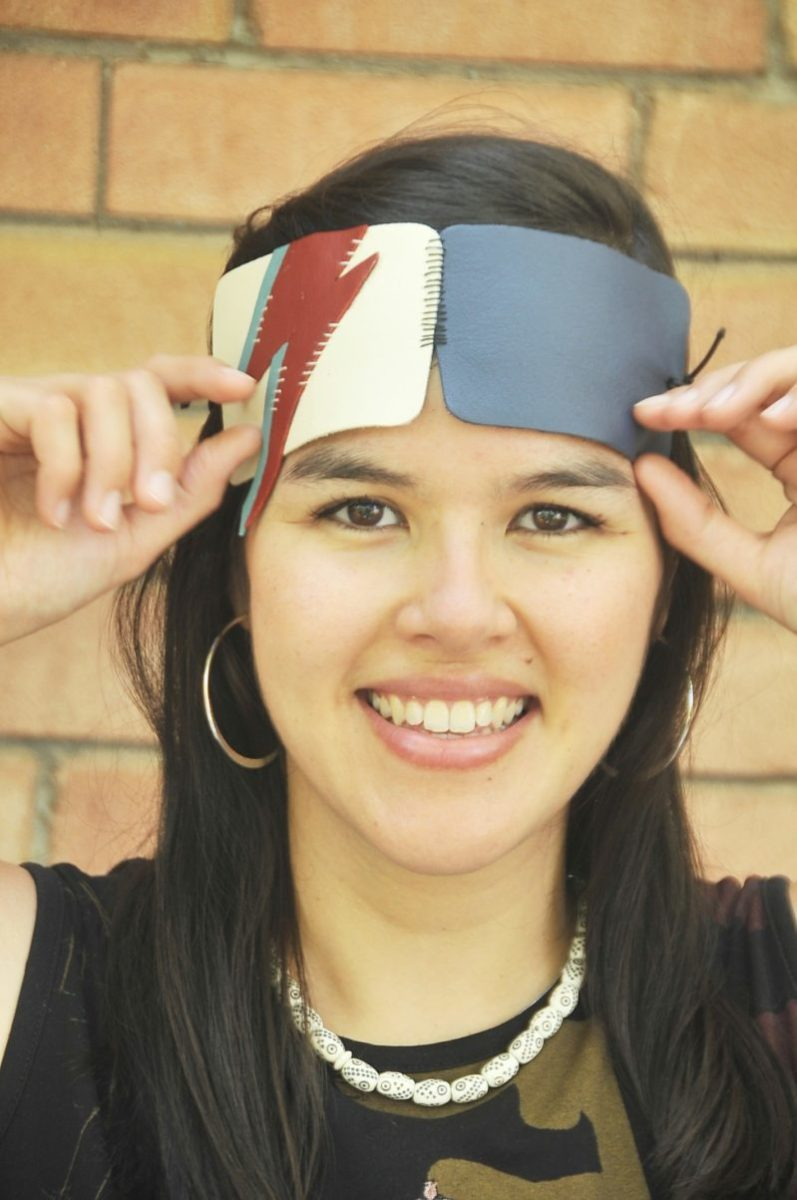 DIY: Bowie-Inspired Leather Eye Mask