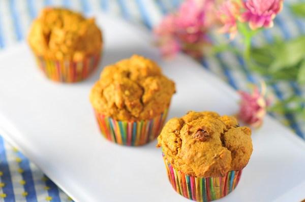 Walnut Raisin Pumpkin Spice Muffins