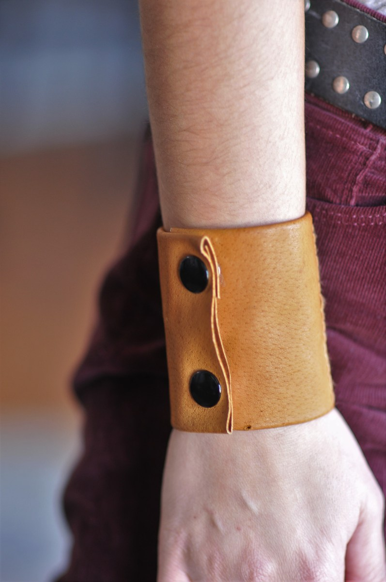 DIY: Leather Cuff with Secret Pocket