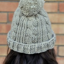 Chunky Cabled Crochet Beanie