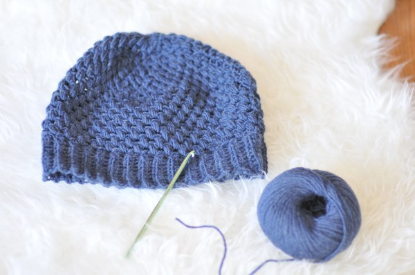 Crochet Puff Stitch Hat