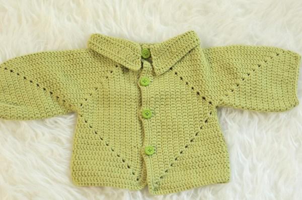 Sue's No Holes Hexagon Baby Cardigan