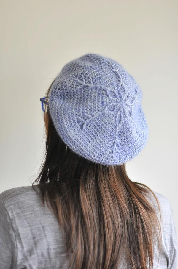 Crochet Snow Queen Beret by Brenda K B Anderson