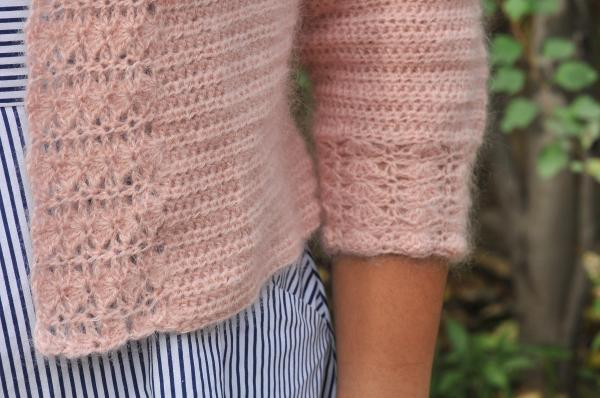 Mohair and Merino Linen and Lace Cardigan