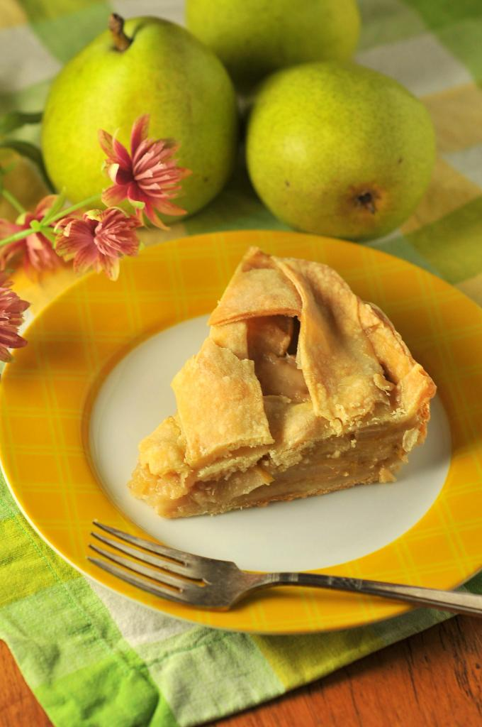Pear Pie with Orange, Almond, and Rum