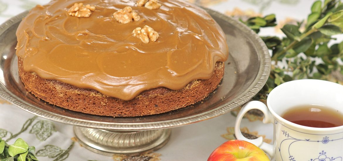 Applesauce Cake with Caramel Icing