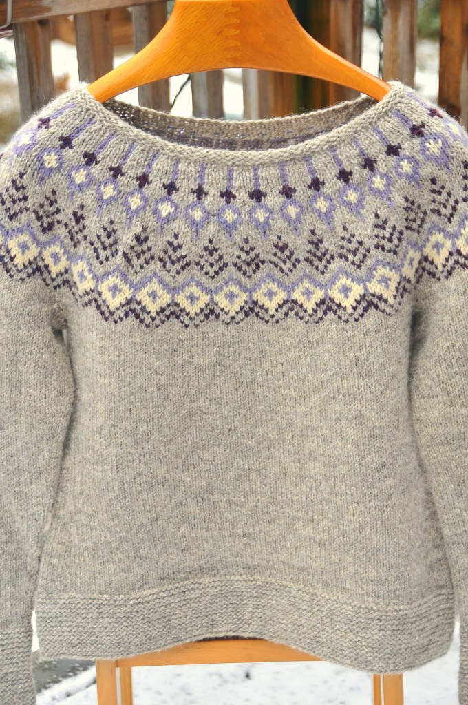 Knit Treelight Pullover by Jennifer Steingass