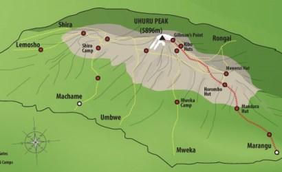 Kilimanjaro Routes-Map