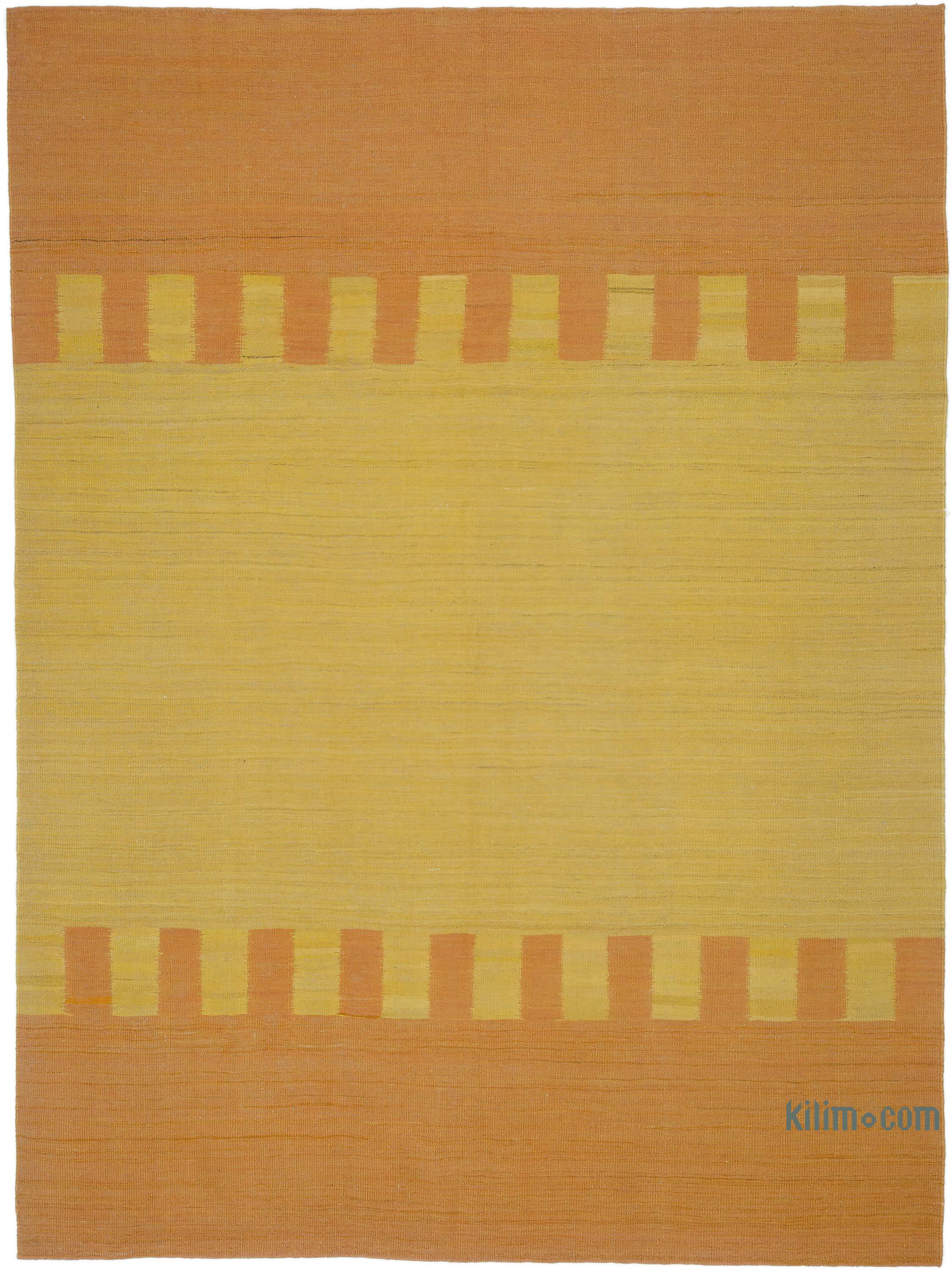 Orange Yellow New Contemporary Kilim Rug Z Collection 7 1 X 9 5 85 In X 113 In